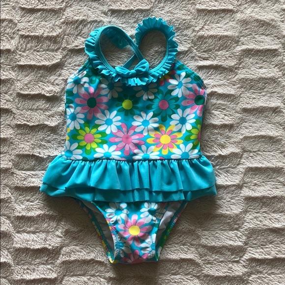 Circo Girls Infant Toddler One Piece Swimsuit w//Tutu 12M 18M 2TNWT UPF 50+Pink